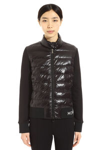 Padded panel full-zip sweatshirt, Casual Jackets Moncler woman
