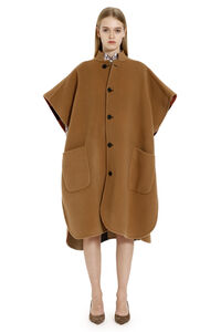 Reversible oversize cape-coat, Capes Burberry woman
