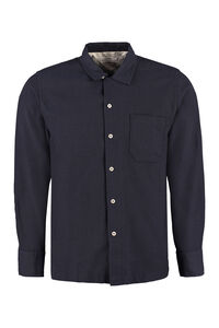Garage long sleeve cotton blend shirt, Plain Shirts Universal Works man