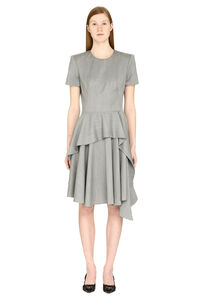 Draped wool dress, Knee Lenght Dresses Alexander McQueen woman