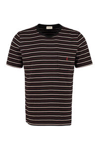 T-shirt in cotone a righe, T-shirt manica corta Saint Laurent man