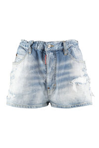 Distressed denim shorts, Denim Shorts Dsquared2 woman