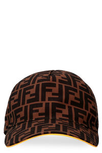 All over logo baseball cap, Hats Fendi man