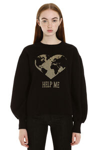Embroidered cotton sweatshirt, Sweatshirts Alberta Ferretti woman
