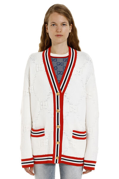 Cardigan with embellished buttons