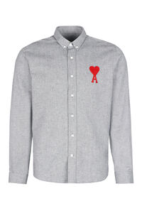 Camicia in cotone Oxford, Camicie tinta unita AMI PARIS man