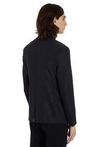 Stretch wool double-breasted jacket