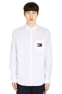 Oxford cotton shirt, Plain Shirts Tommy Jeans man
