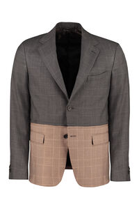 Prince of Wales jacket, Single breasted blazers Fendi man