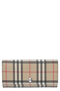 Checked fabric wallet, Wallets Burberry woman