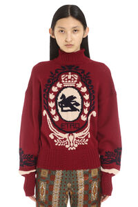 Pegasus intarsia sweater, Turtleneck sweaters Etro woman