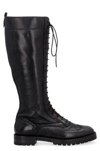 King leather lace-up boots, Knee-high Boots L'Autre Chose woman