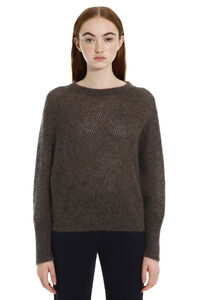 Open-work sweater, Crew neck sweaters Brunello Cucinelli woman