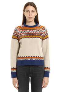 Momo crew-neck wool sweater, Patterned sweaters Golden Goose woman