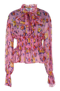 Printed georgette blouse, Blouses MSGM woman