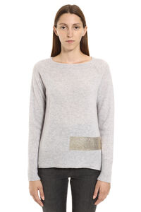 Giapponese wool and cashmere sweater, Crew neck sweaters Pinko woman