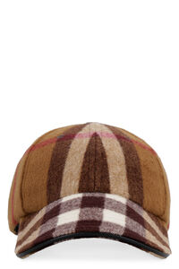 Check motif wool baseball cap, Hats Burberry man