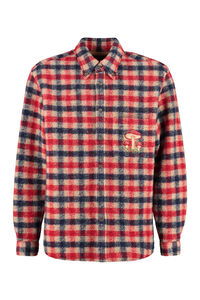 Checked wool overshirt, Checked Shirts Gucci man