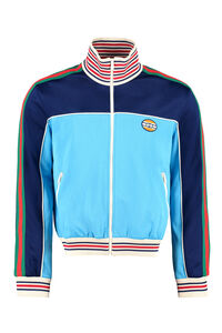 Full zip sweatshirt with side stripes, Zip through Gucci man