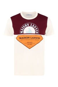Logo print cotton t-shirt, Short sleeve t-shirts Lanvin man
