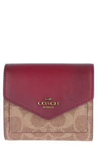 Small flap-over wallet with Signature motif, Wallets Coach woman
