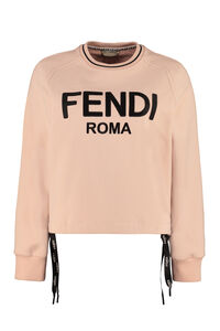 Logo detail cotton sweatshirt, Sweatshirts Fendi woman