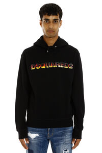 Logo cotton hoodie, Hoodies Dsquared2 man