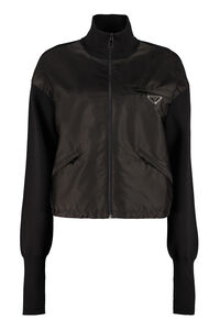 Re-Nylon and knit cardigan, Casual Jackets Prada woman