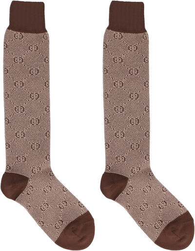 GG jacquard cotton-blend socks