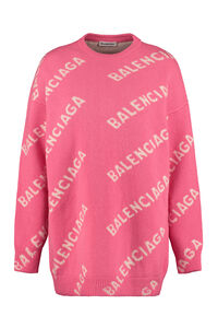Jacquard crew-neck sweater, Crew neck sweaters Balenciaga woman