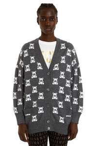 Teddy Bear jacquard knit cardigan, Cardigan Moschino woman