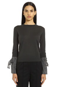 Cashmere-silk blend pullover, Crew neck sweaters Fabiana Filippi woman