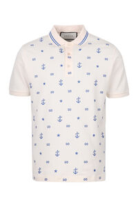 Stretch cotton piqué polo shirt, Short sleeve polo shirts Gucci man