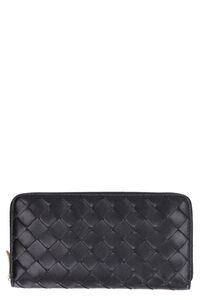 Intrecciato Nappa zip around wallet, Wallets Bottega Veneta woman