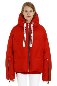 Khris Puffer full zip padded hooded jacket, Down Jackets Khrisjoy woman