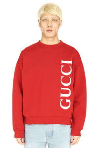 Logo detail cotton sweatshirt, Sweatshirts Gucci man