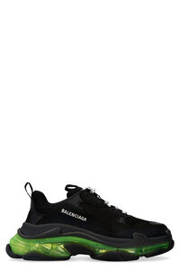 Triple S techno-fabric and leather sneakers, Low Top Sneakers Balenciaga man