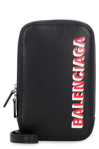 Leather phone holder, Messenger bags Balenciaga man