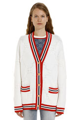 Cardigan with embellished buttons, Cardigan Gucci woman