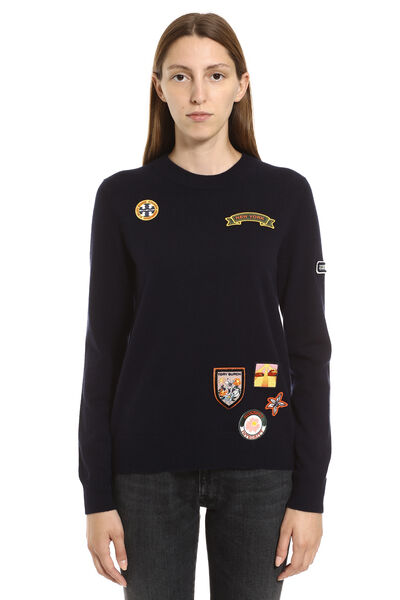 Patches cashmere sweater