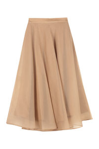 Silk full skirt, Knee Length skirts MSGM woman