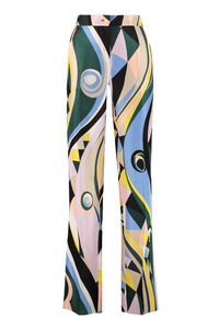 Printed silk wide-leg trousers, Wide leg pants Emilio Pucci woman