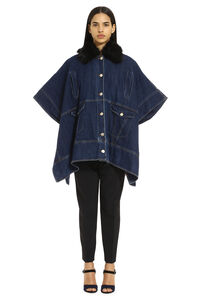Jelly denim cape coat, Capes Pinko woman