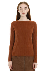 Fleur cable knit pullover, Crew neck sweaters Max Mara woman