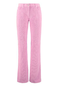 Corduroy trousers, Straight Leg pants MSGM woman