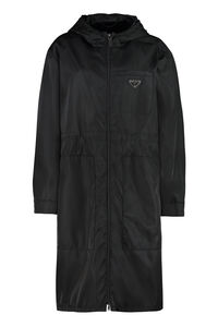 Hooded Re-Nylon raincoat, Raincoats And Windbreaker Prada woman