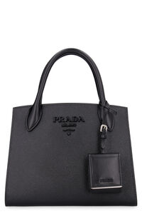 Prada Monochrome leather handbag, Top handle Prada woman