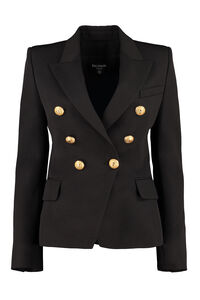 Double-breasted wool blazer, Blazers Balmain woman
