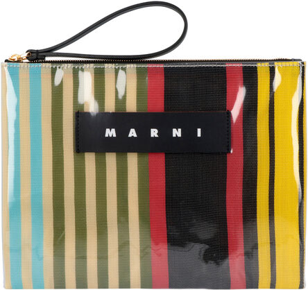 Glossy Grip tote flat pouch, Clutch Marni woman