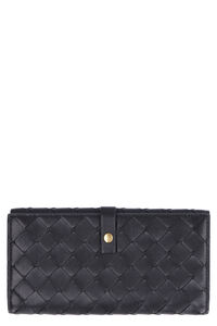 Intrecciato continental wallet, Wallets Bottega Veneta woman